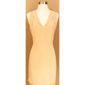 MaxMara Italy Sleeveless Nude Silk Dress